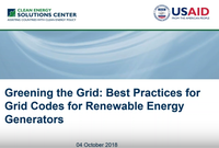 New Recorded Webinar: Best Practices for Grid Codes for Renewable Energy Generators