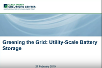 New Recorded Webinar: Utility-Scale Battery Storage